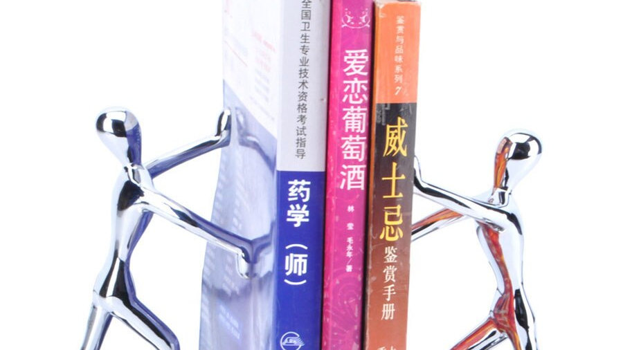 Exclusive 1 Pair Silver Portable Holder Bookshelf (assured quality)