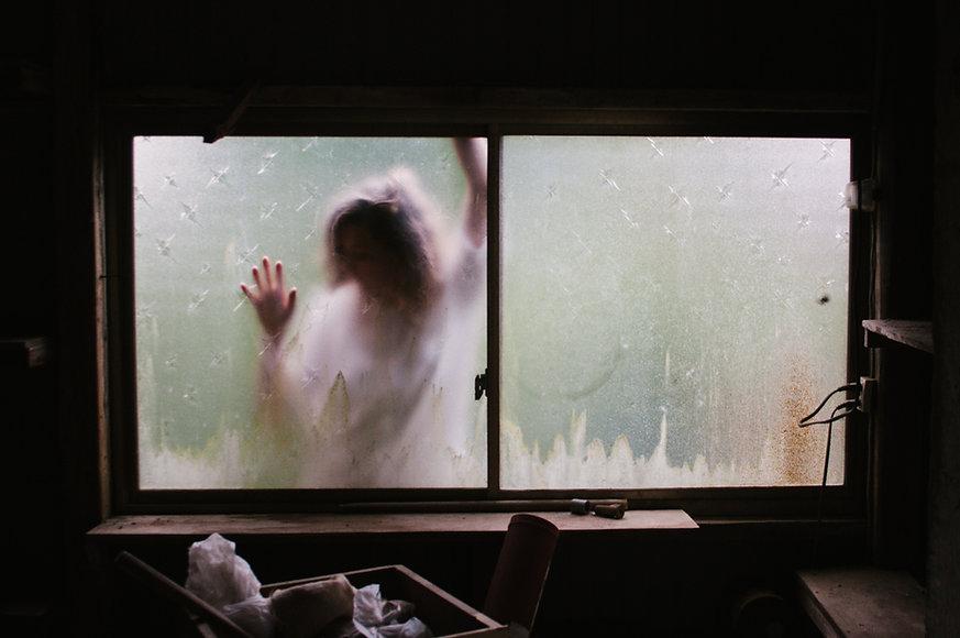 Scary Silhouette Window