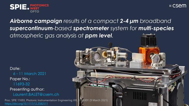 Presentation by CSEM at Photonics West 2021