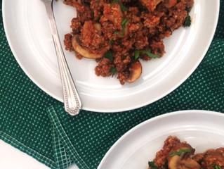 Italian Beef, Quinoa & Kale Skillet (gluten-free, dairy-free)