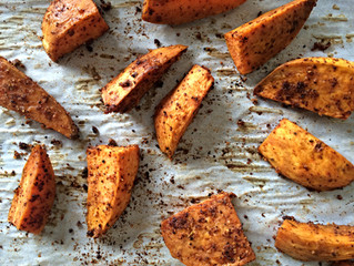 Ancho-Coffee Sweet Potato Wedges (gluten-free, dairy-free, vegan)