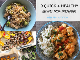 "9 Quick + Healthy ""Throw Together"" Meals From Instagram"