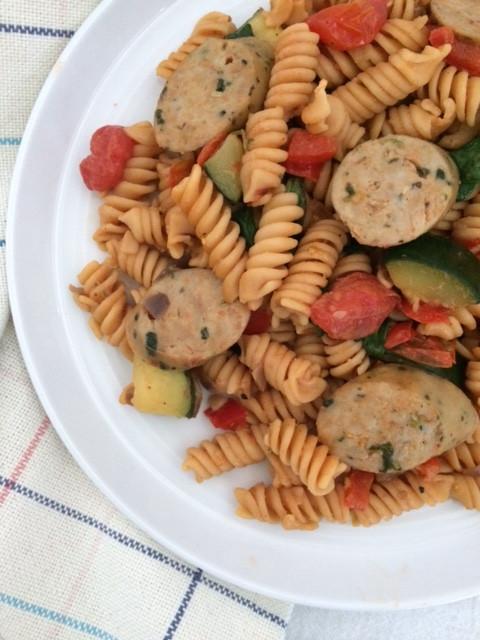 veggie loaded pasta
