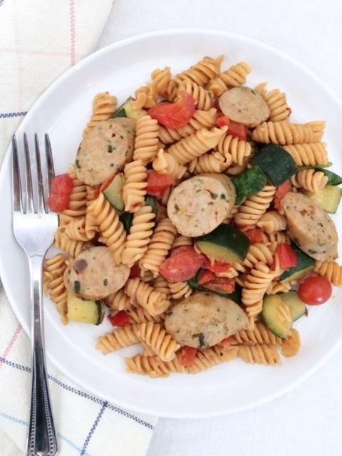 veggie loaed pasta