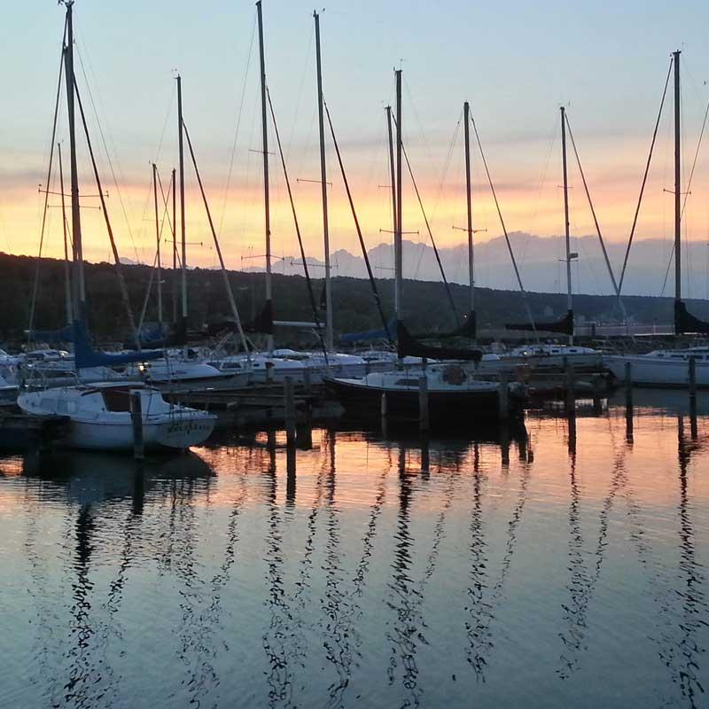 Watkins Glen Harbor Sunset
