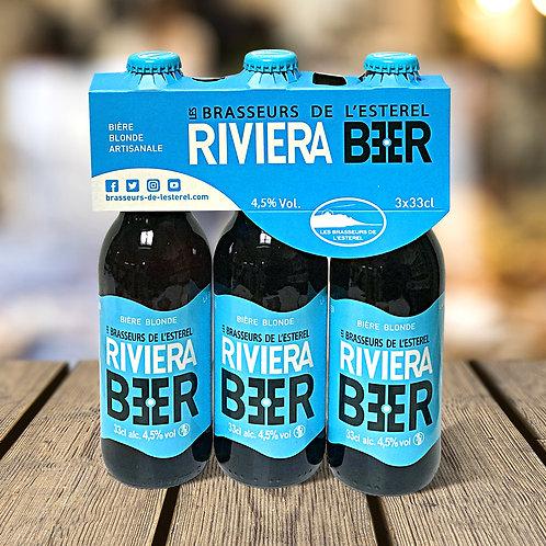 Tripack 3 Bouteilles 33cl Riviera Beer Blonde