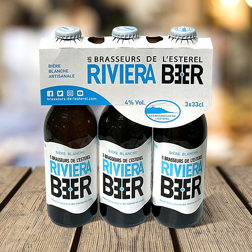 Tripack 3 Bouteilles 33cl Riviera Beer Blanche