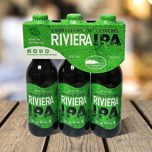 Tripack 3 Bouteilles 33cl Riviera Beer IPA