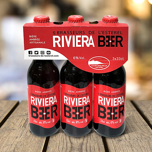 Tripack 3 Bouteilles 33cl Riviera Beer Ambrée