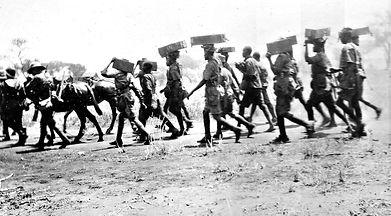 Machine Gun Porters in East Africa