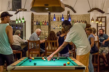 Pool Table at Piri Piries Bar and Restaurant on Diani Beach