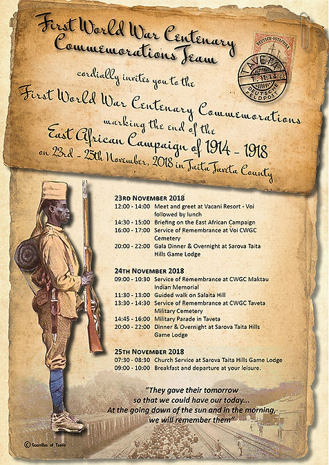 2018 WW1 Commemoration in Africa