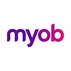 The logo for 'MYOB'