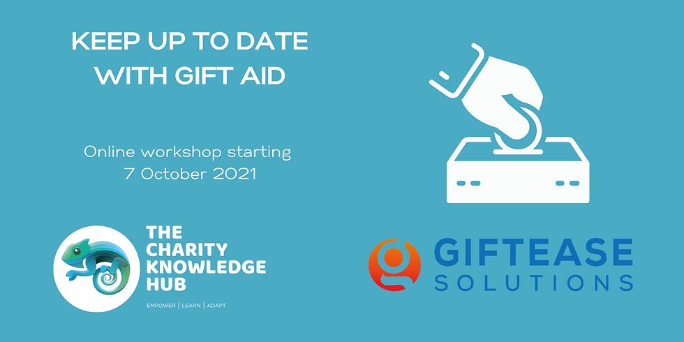 Gift Aid Workshop - Online October 2021