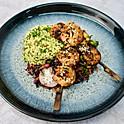 Tokyo Prawns, Tabbouleh and Rainbow Salad