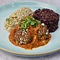 Lamb Meatballs, Mushroom Risotto and Rice