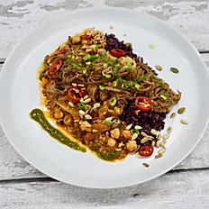 Slow Cooked Beef Brisket, Spiced Chickpeas, Wild and Brown Rice & Chimichurri