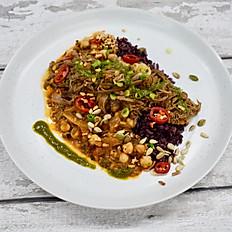 Beef Brisket, Chickpeas, Rice & Chimichurri