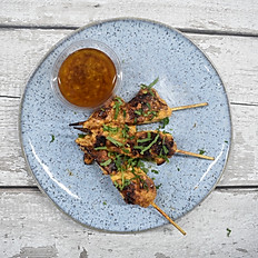 Chicken Skewers with your choice of dressing
