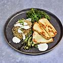 Halloumi, Tenderstem Broccoli, Cauliflower Rice and Yoghurt Dressing