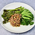 Beef Brisket, Super Greens, Tenderstem Broccoli and Chilli Sauce