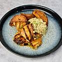Mango & Cajun Chicken Thighs, Sweet Potato and Cauliflower Rice