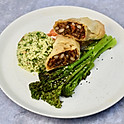 BALANCE: Chipotle Bean Parcel, Tabbouleh, Broccoli and Chilli Sauce