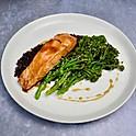 Teriyaki Salmon, Rice, Broccoli & with Soy and Honey Dressing
