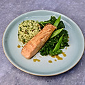 Miso Salmon, Tabbouleh and Super Greens