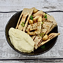 Confit Garlic and Herb Wholemeal Pittas with Hummus