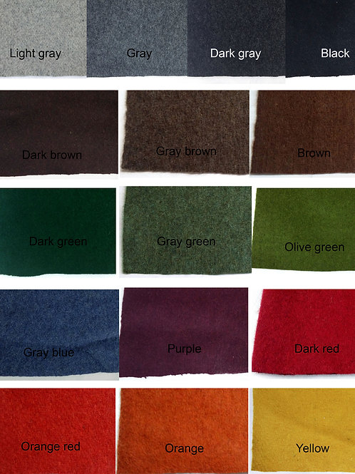 Fabric swatch-Recycled melton/vadmal