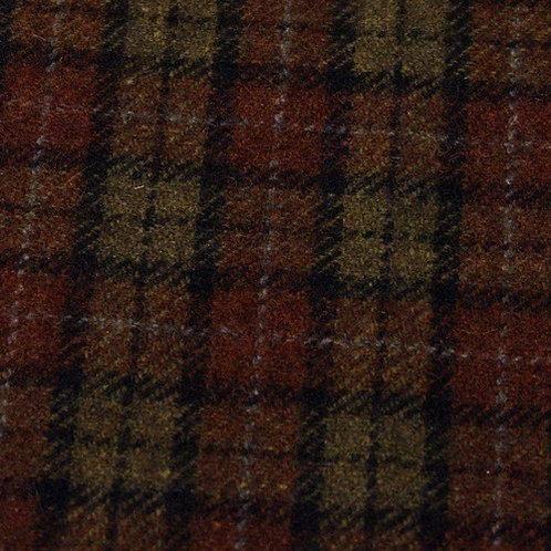 Wool tartan 60% wool-green/brown