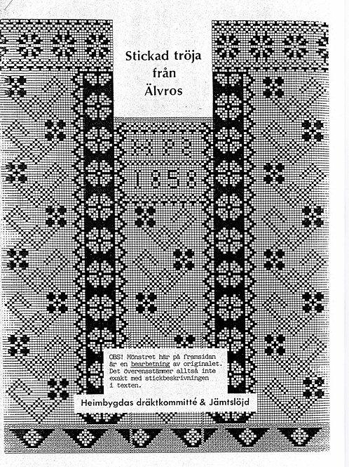 Knitting pamplet Jamtli- Älvroströja 1858