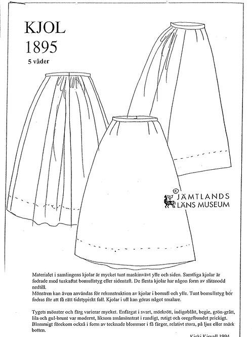 Sewing pattern Jamtli- Skirt 1895