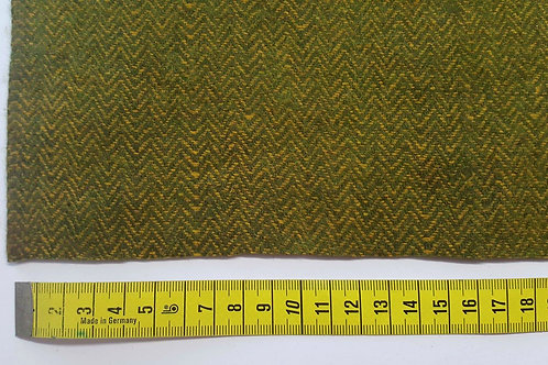 Herringbone wool 60%-green yellow