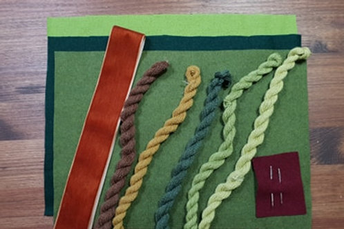 Embroidery kit- blues & greens