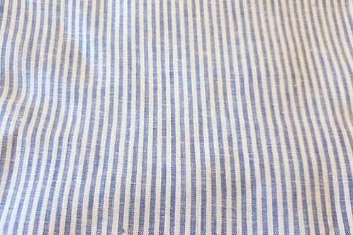 Striped linen- small blue