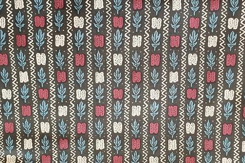 Swedish cotton print-kattun från Revsund