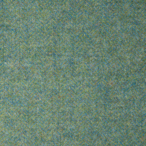 Herringbone wool fabric 100%-sky blue