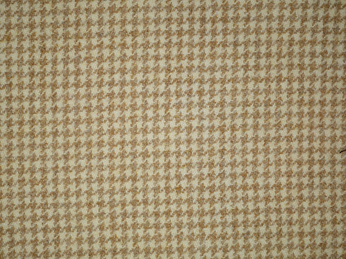 Tartan wool fabric-beige houndstooth