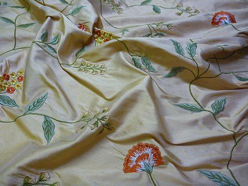 Embroidered silk-flower cream