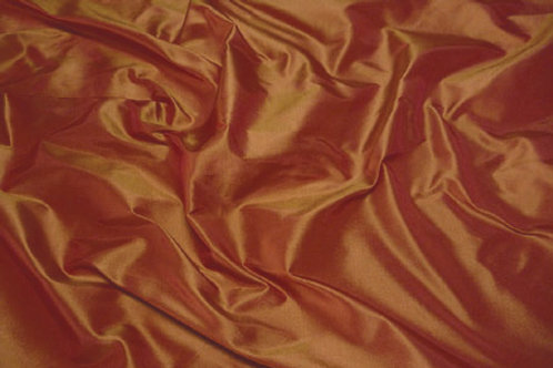 Silk taffeta-rust orange