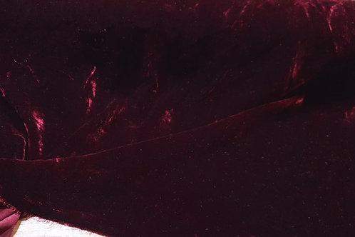 Silk Velvet-Wine red