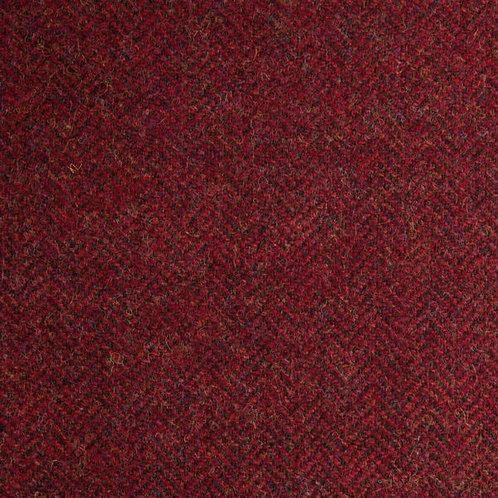 Herringbone wool fabric 100%-red