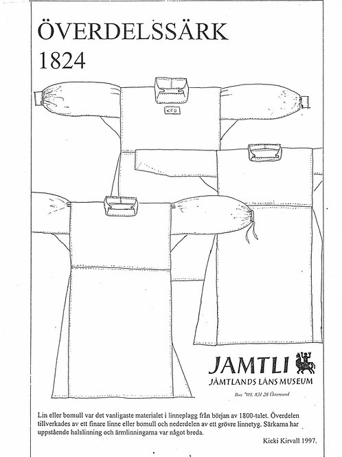Sewing pamplet Jamtli- Shift 1824