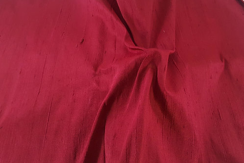 Dupion thai silk-dark red