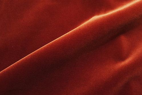 High gloss cotton velvet- Rust 61