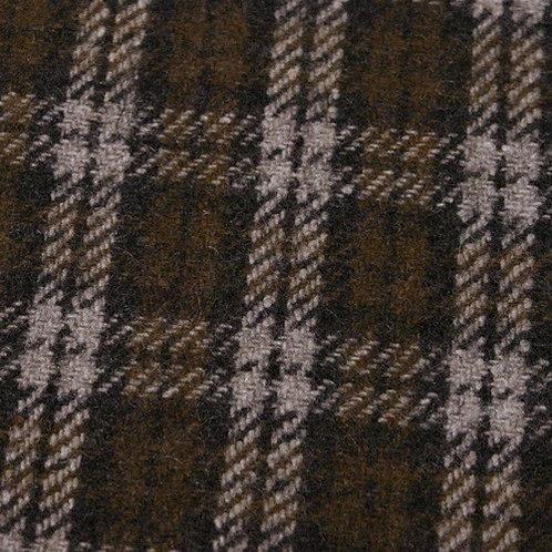 Wool tartan 60% wool-brown beige