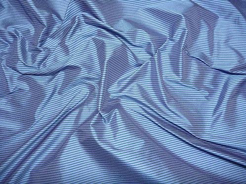 Silk-small stripes-blue