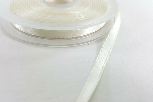 Satin ribbon 6mm-ivory white